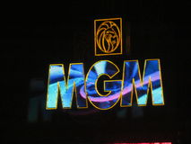 MGM sign at night Royalty Free Stock Photography