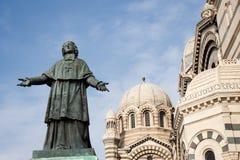 Mgr. Estatua de Belsunce Imágenes de archivo libres de regalías