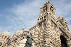 Mgr. Estatua de Belsunce, comandante del La de la catedral, Imagen de archivo libre de regalías