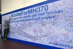 MH370在墙壁上的祷告 免版税库存图片