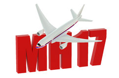 MH17 crash. Concept isolated on white background Vector Illustration