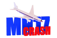 MH17 crash 2014 concept. Isolated on white background Vector Illustration