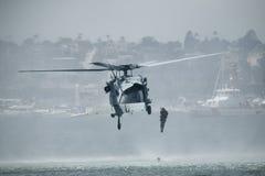 MH-JAREN '60 de Helikopter van Knighthawk royalty-vrije stock afbeeldingen