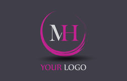 Free MH M H Letter Logo Design Royalty Free Stock Images - 91519099
