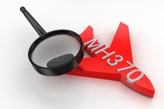 MH370 Plane Search Stock Images
