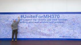 MH370 prayers on wall Stock Image