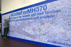 MH370 prayers on wall royalty free stock images