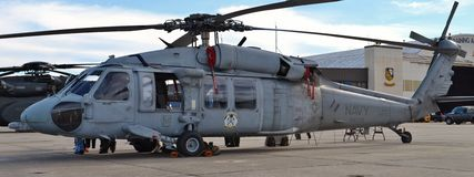 MH-60/SH-60 Seahawk. A U.S. Navy MH-60/SH-60 Seahawk helicopter Royalty Free Stock Image