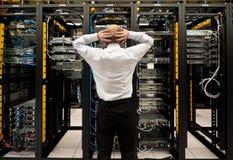 Mühe im datacenter Stockfotografie