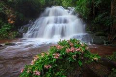 Mhundaeng waterfall Phu Hin Rong Kla; National Park at Phitsanul Stock Image