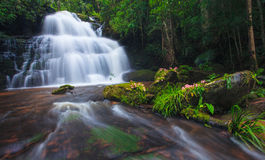 Mhundaeng waterfall Phu Hin Rong Kla National Park Stock Photos