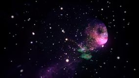 Międzygwiazdowa podróż w hyperspace wormhole portalu z gwiazdy bezszwową pętlą ilustracja wektor