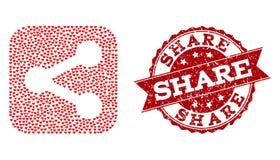 Miłości Kierowa mozaika części ikona i gumy Watermark ilustracja wektor