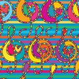 Miłości opony nieatutowy muzyczny bezszwowy wzór royalty ilustracja