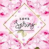 Miłości wiosny tła wektoru granica ilustracja wektor