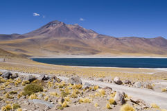 Miñiques Lagoon. Views of Miñiques Lagoon, Chile Stock Photo