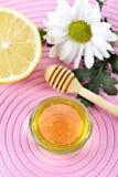 Miód i cytryna fotografia stock