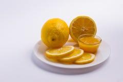 Miód i cytryna Zdjęcia Stock