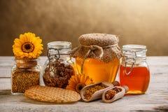 Miód i pollen obrazy royalty free