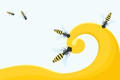 Miód i pszczoły Obrazy Stock