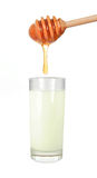 miód mleka Zdjęcie Stock