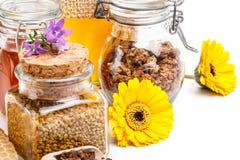 Miód, pollen i pierzga, zdjęcie royalty free