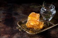 Miód w honeycombs Zdjęcie Stock
