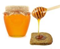Miód z chlebem Zdjęcia Stock