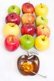 Miód z jabłkiem dla Rosh Hashana Obrazy Stock