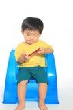 Miúdo asiático adorável Fotografia de Stock Royalty Free