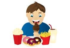 Miúdo com fome ilustração stock