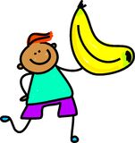 Miúdo da banana ilustração royalty free