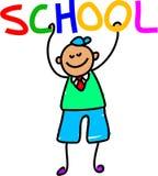 Miúdo da escola ilustração royalty free