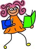 Miúdo da leitura ilustração stock