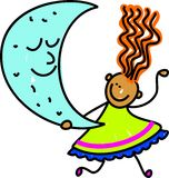 Miúdo da lua ilustração stock