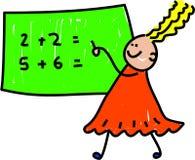Miúdo da matemática Fotografia de Stock Royalty Free