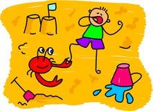 Miúdo da praia ilustração royalty free