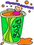 Miúdo da soda ilustração royalty free