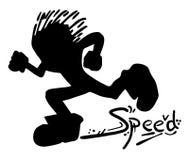 Miúdo da velocidade ilustração stock