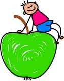 Miúdo de Apple ilustração royalty free