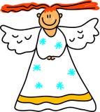 Miúdo do anjo ilustração stock