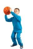 Miúdo do basquetebol fotografia de stock