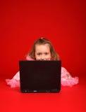Miúdo do computador Fotografia de Stock Royalty Free