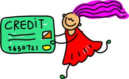 Miúdo do crédito ilustração do vetor