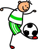 Miúdo do futebol Imagem de Stock Royalty Free