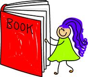 Miúdo do livro ilustração stock