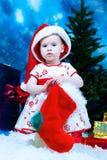 Miúdo do Natal foto de stock