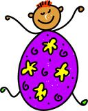 Miúdo do ovo de Easter Fotos de Stock