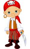 Miúdo do pirata Imagem de Stock
