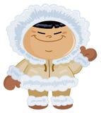Miúdo Eskimo Imagens de Stock